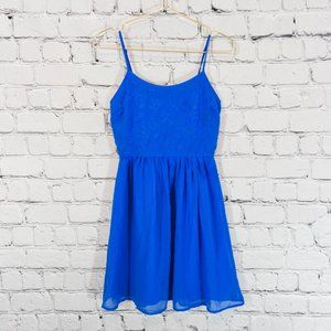 SO Heritage blue fit and flare dress
